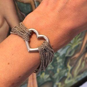 Tiffany & Co. Heart Multi Chain Mesh Bracelet